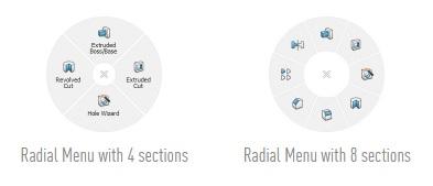 CadMouse radial menu