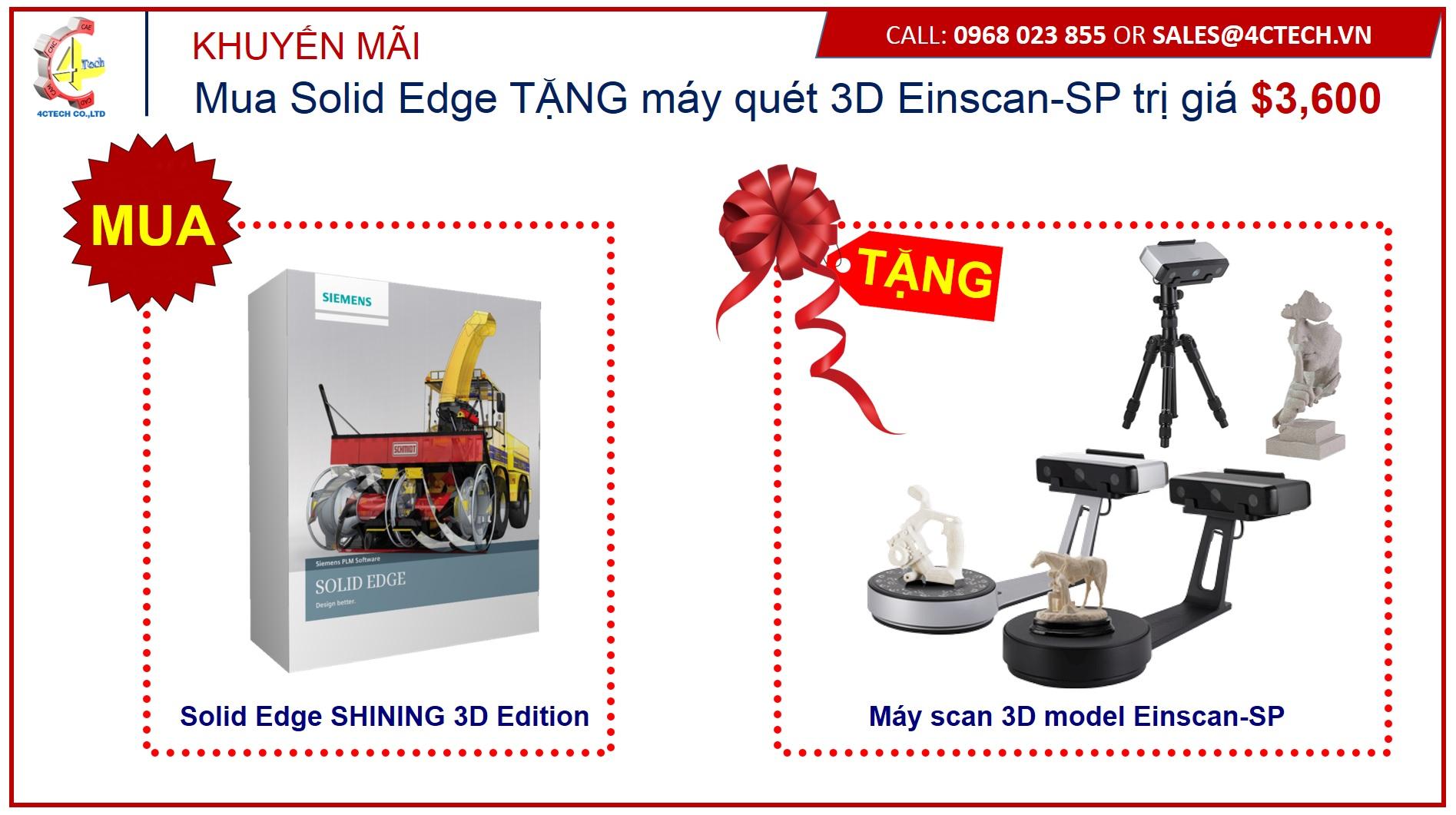 khuyen mai solid edge scan 3D