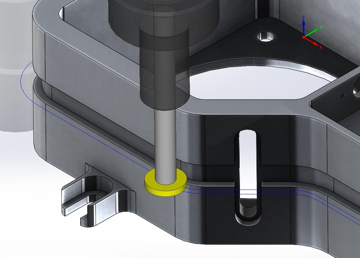 SolidCAM 2.5D T slot